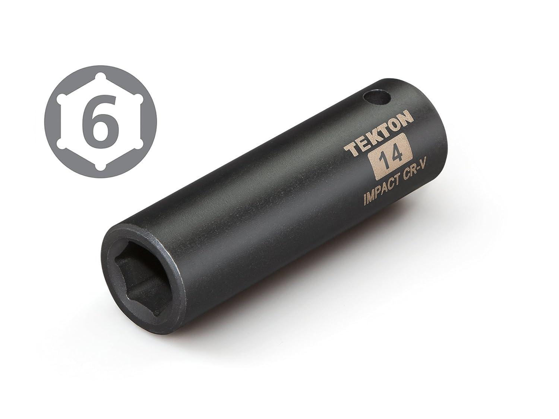 Cr-V TEKTON 47785 1//2-Inch Drive by 7//16-Inch Deep Impact Socket 6-Point