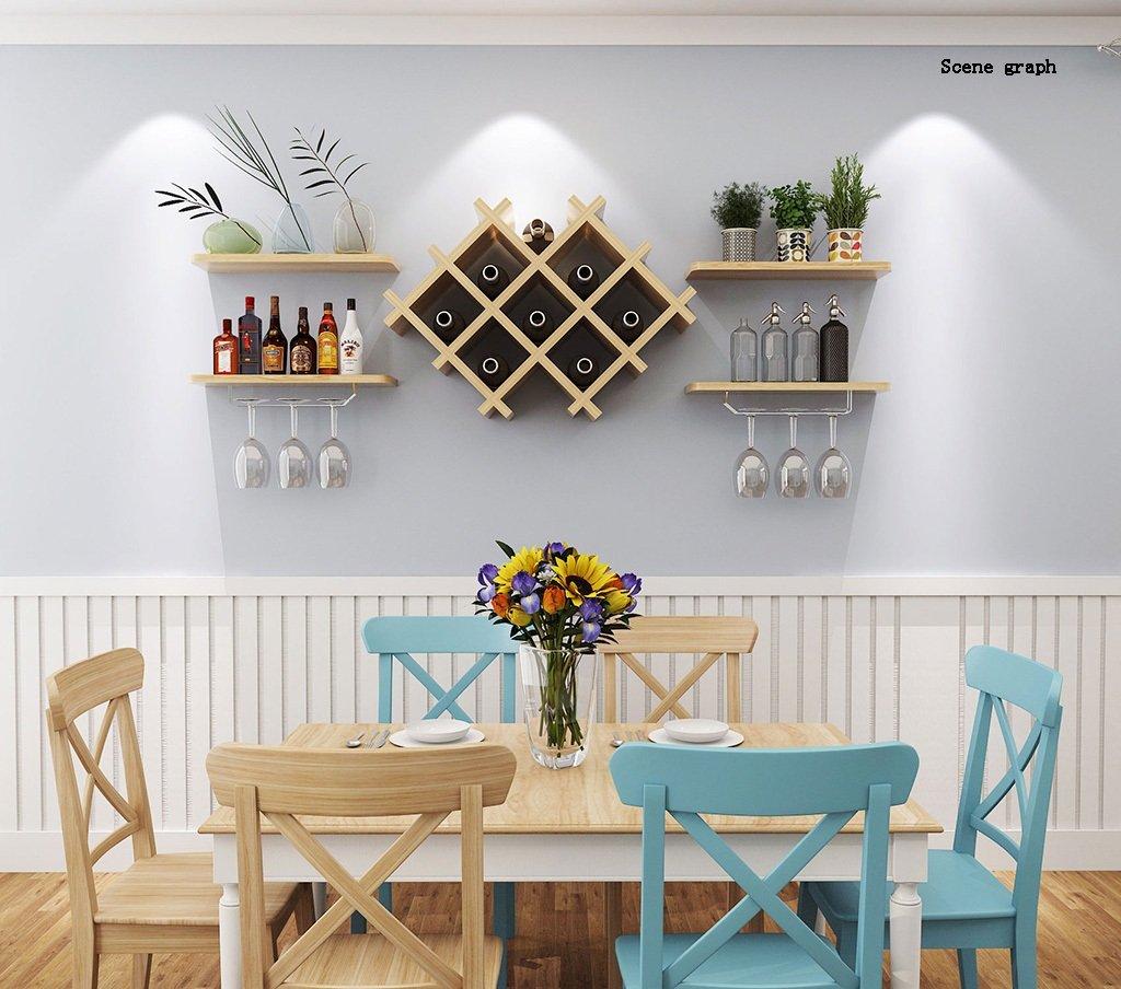Flashing- Paneles a base de madera Tipo colgante Armario de vino / Portavasos / Soporte de vino / Estantería / Planta Soporte / estantería, Pared creativa ...