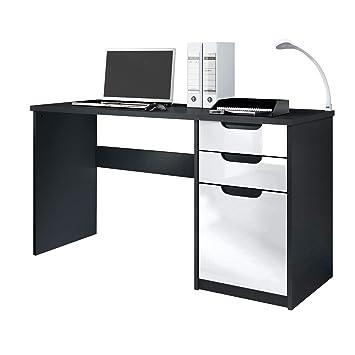 Vladon Schreibtisch Computertisch Büromöbel Logan Korpus In Schwarz