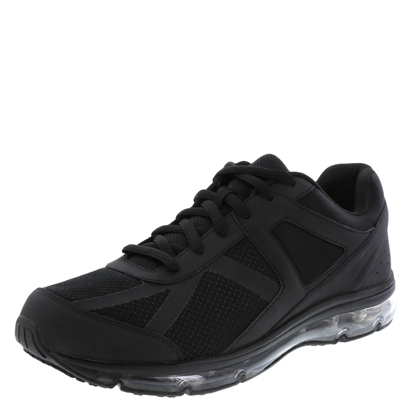 safeTstep Slip Resistant Men's Black Men's Blast Runner 10 Wide by safeTstep