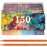 Professional Watercolor Pencil Set 150 Count Art Supplies for Coloring, Drawing, Shading Pre-Sharpened, Fine Point Lead…