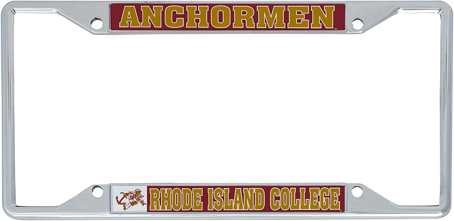 Desert Cactus Rhode Island College RIC Rams NCAA Metal License Plate Frame for Front Back of Car Officially Licensed Mascot