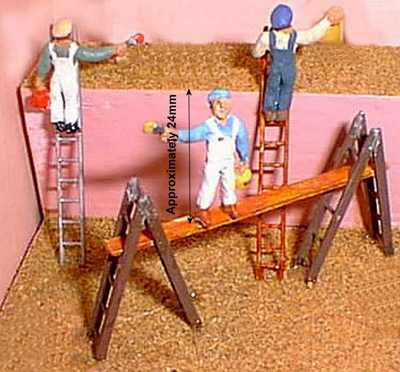 Escaleras de Langley Models obreros pintores decoradores F171dp OO escala pintado: Amazon.es: Juguetes y juegos