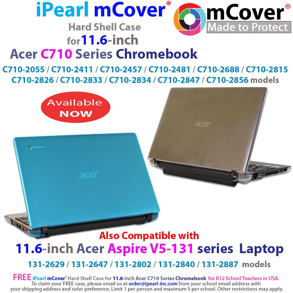 Ipearl Mcover Hard Shell Case For 116 Acer Aspire V5 Keyboard Laptop 132 132p E3 111 E11 131 Series C710 Chromebook And One Ao756