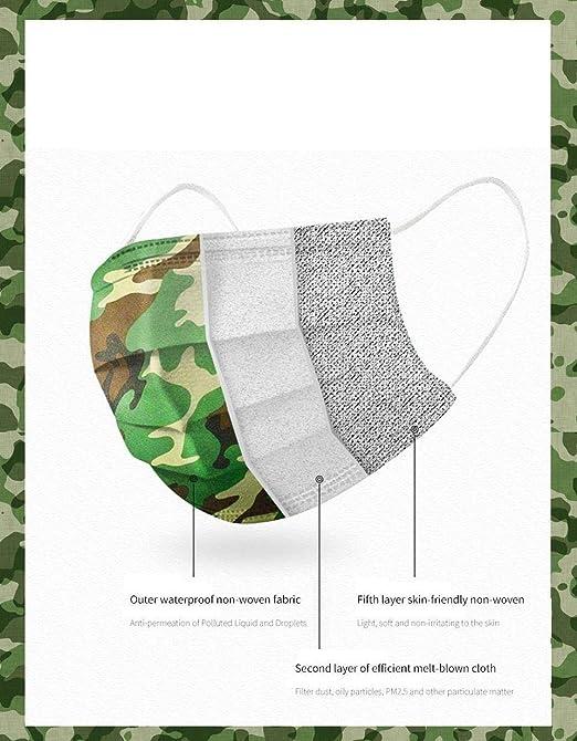 familiares transpirable Honmao Juego de 50 piezas de camuflaje para adultos productos diarios vecinos//compa/ñeros de trabajo 3 capas para compartir con amigos