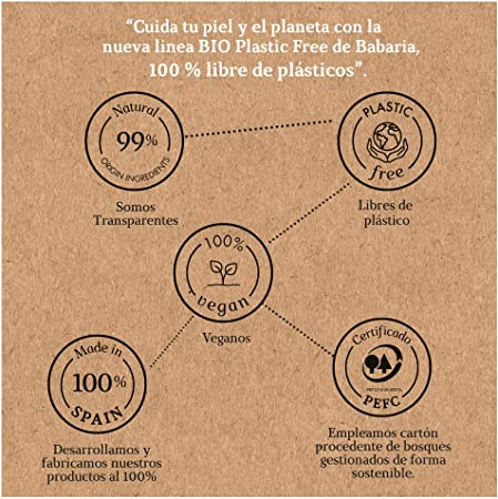 Babaria Bio Plastic Free Crema Facial Hidratante Dia 50 ml
