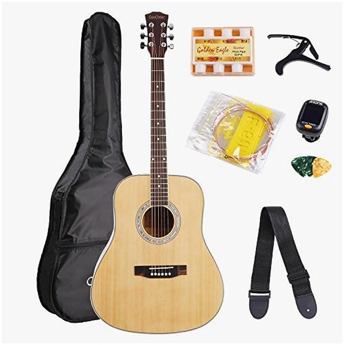Juego de iniciación de guitarra acústica de tamaño Aco de 41 ...