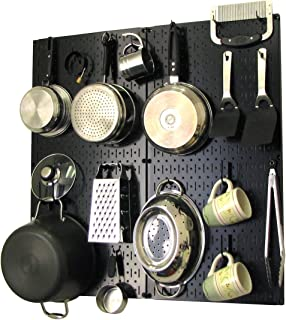 product image for Wall Control Kitchen Pegboard Organizer Pots and Pans Pegboard Pack Storage and Organization Kit with Black Pegboard and Black Accessories