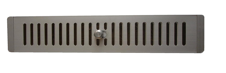 Rejilla de ventilació n de anodisado aluminio ajustado 410 mm x 78 mm para armarios y gabinetes, rejilla de ventilació n Rejilla Salida De Aire Rejilla de aluminio, (410 x 78 x 20) Karkon