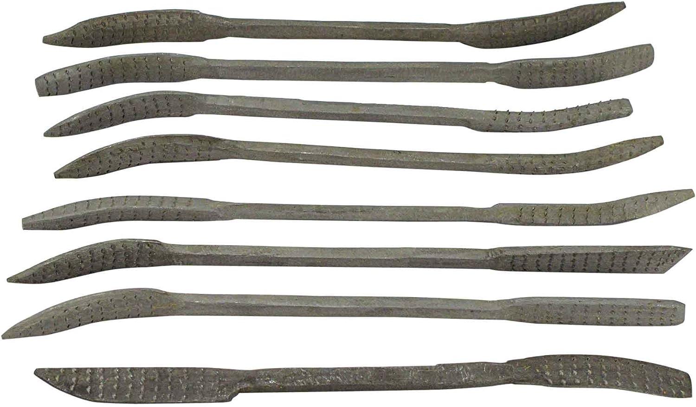 SE 7408WFR 8-Piece Heavy Wood Rasp Riffler File Set Sona Enterprises