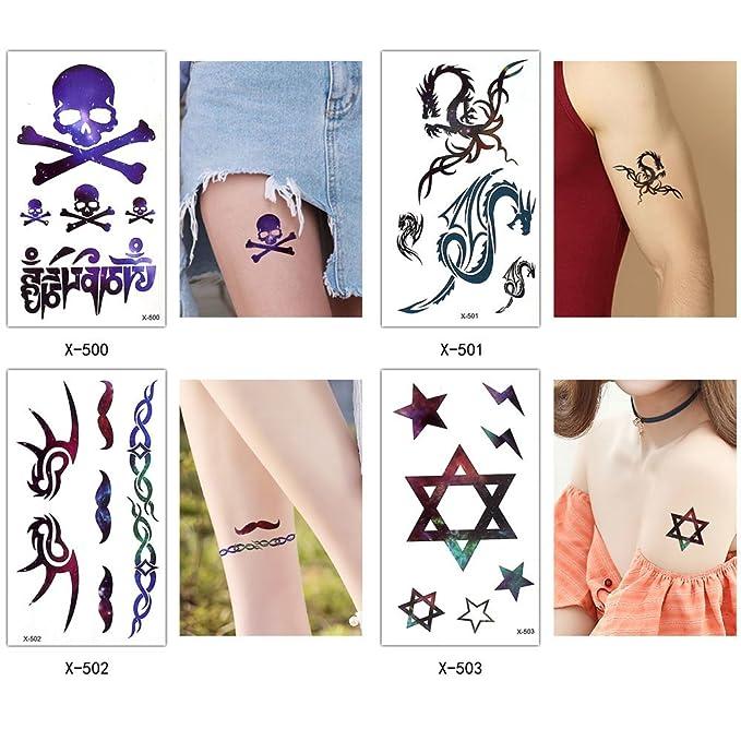 25 hojas negro Tiny temporal Tattoo Sticker pierna cuerpo a mano ...