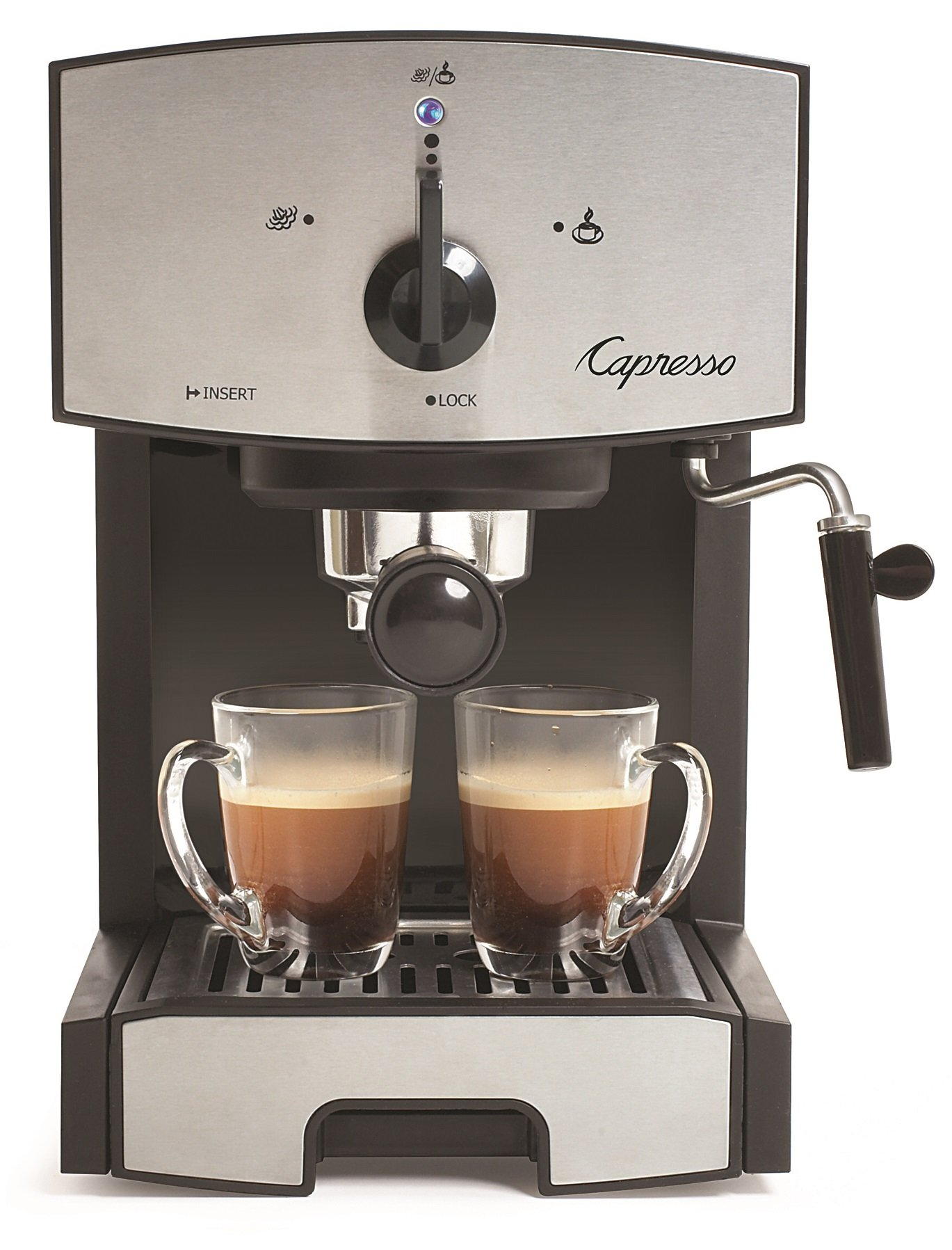 Capresso 117.05 Stainless Steel Pump Espresso and Cappuccino Machine EC50, Black/Stainless by Capresso