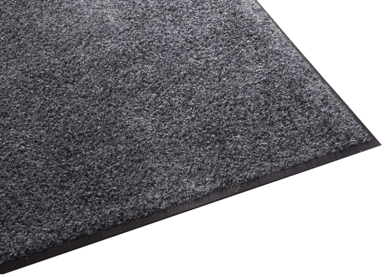 Guardian Platinum Series Indoor Wiper Floor Mat, Rubber with Nylon Carpet, 3'x4', Grey