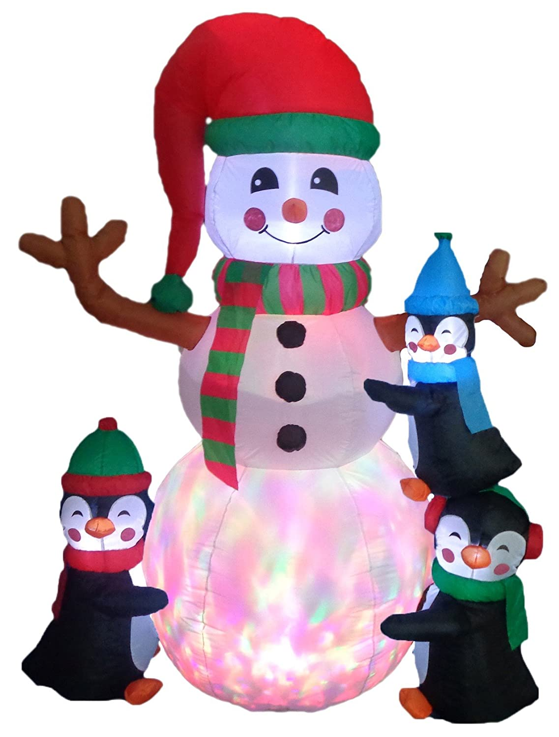 amazon com 6 foot tall lighted christmas inflatable three cute