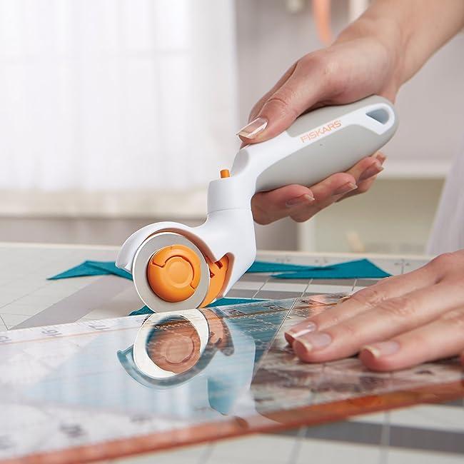 Fiskars Adjustable Rotary Cutter - Good Rotary Cutter for Arthritis