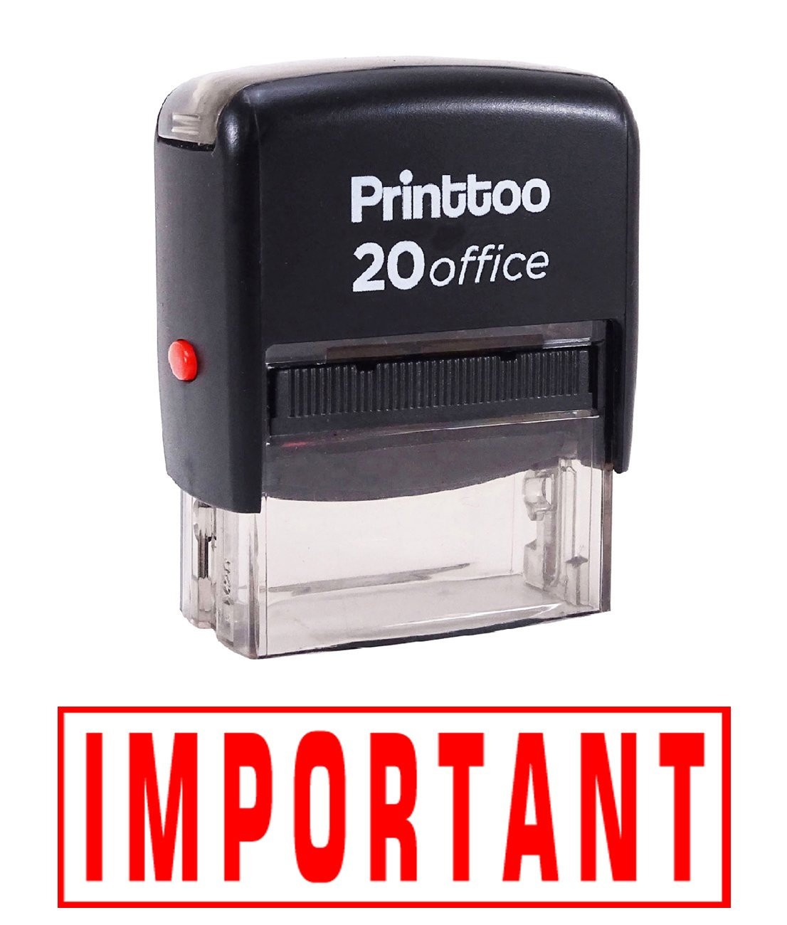 Printtoo IMPORTANT Self Inking Rubber Stamp Office Stationary Custom Stamp-Red