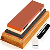 Whetstone Sharpening Stone Kit Dual Sided 3000/8000 Grit Professional Whetstone Knife Sharpener Stone Wet Stone Set Nonslip B