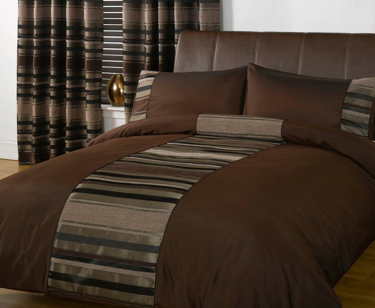 duvet dp runner cover viceroybedding brown amazon uk super chocolate king size set staten and pillowcases piece home bed kitchen co cushion