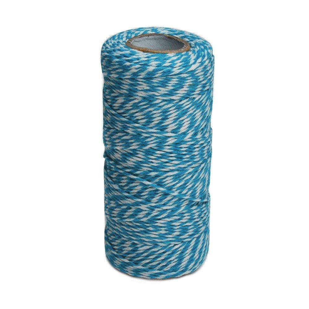 100m di spago di cotone, a due fili, da cucina 100 M Blue and White JIJA