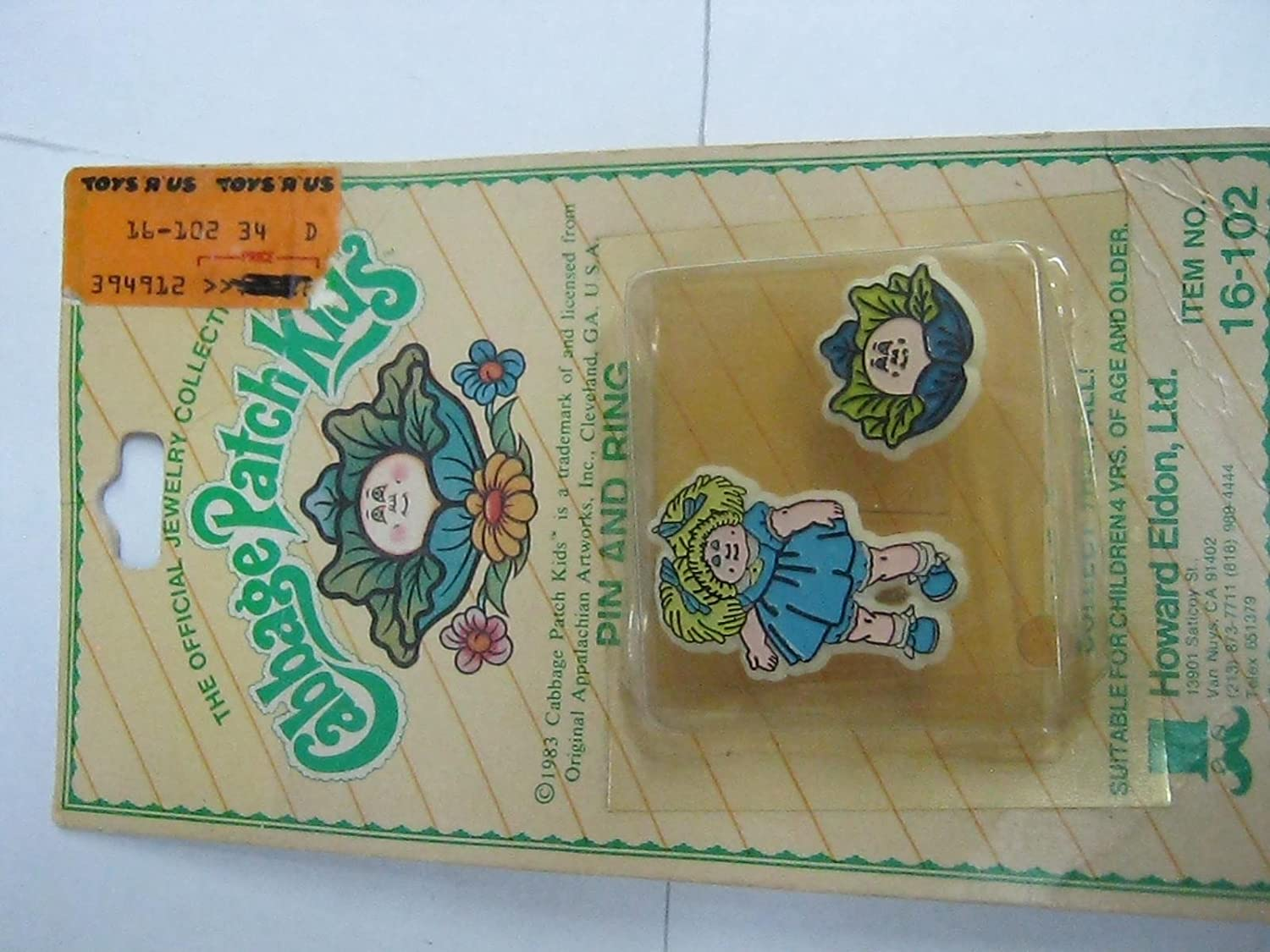 8c8e7d2fe977 Amazon.com  Cabbage patch kids pin and ring  Toys   Games