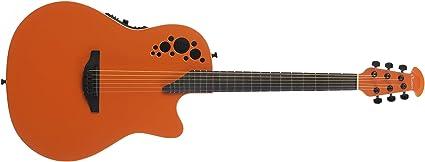 Ovation S de guitarra acústica Elite T Super Shallow Gloss Naranja ...