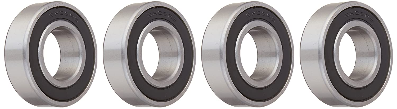 BC Precision BC-6205-2RS-4 Four (4) 6205-2RS Sealed Bearings 25x52x15 Ball Bearings/Pre-Lubricated (Pack of 4)