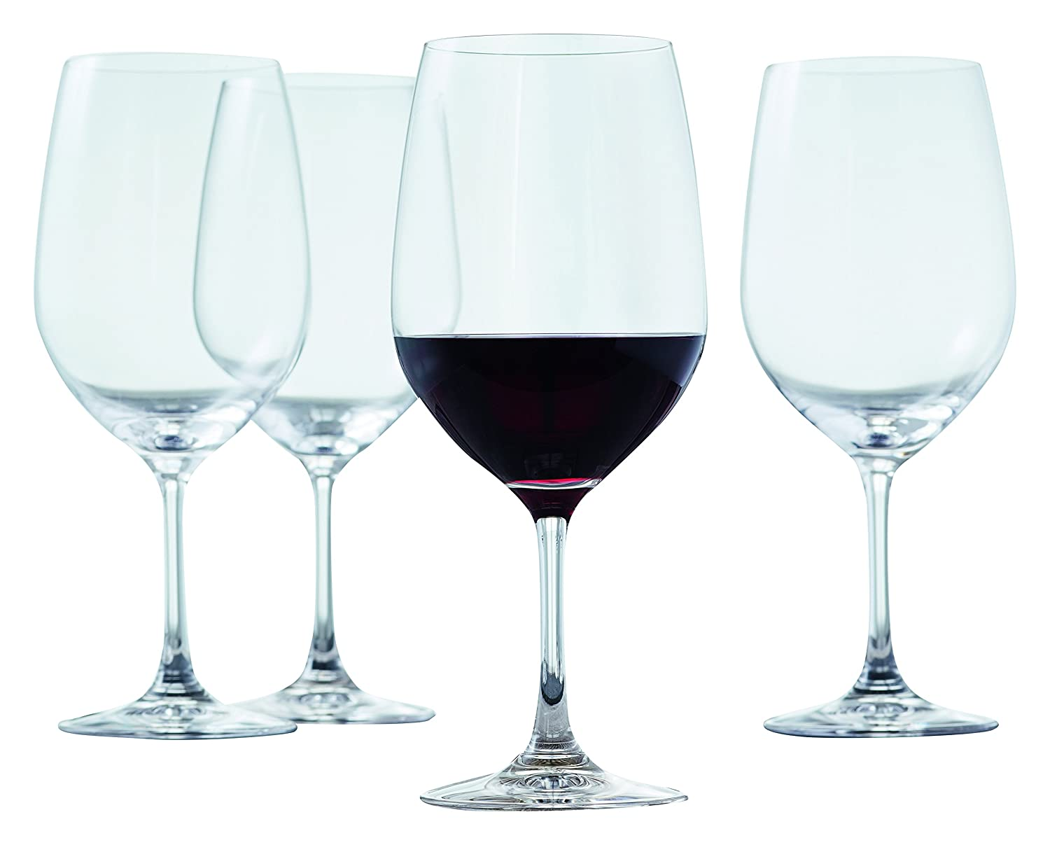 Spiegelau Style Burgundy Wine Glasses - (Set of 4, Clear Crystal) 4670180