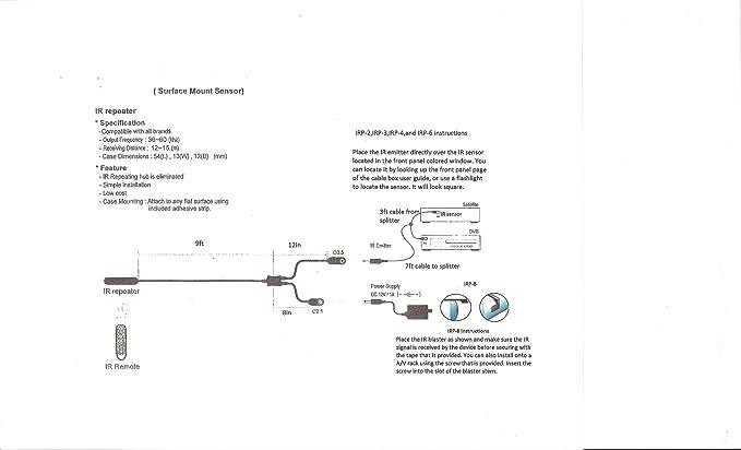 block-less Multi Gerät 30 ~ 60KHZ IR Repeater: Amazon.de: Elektronik