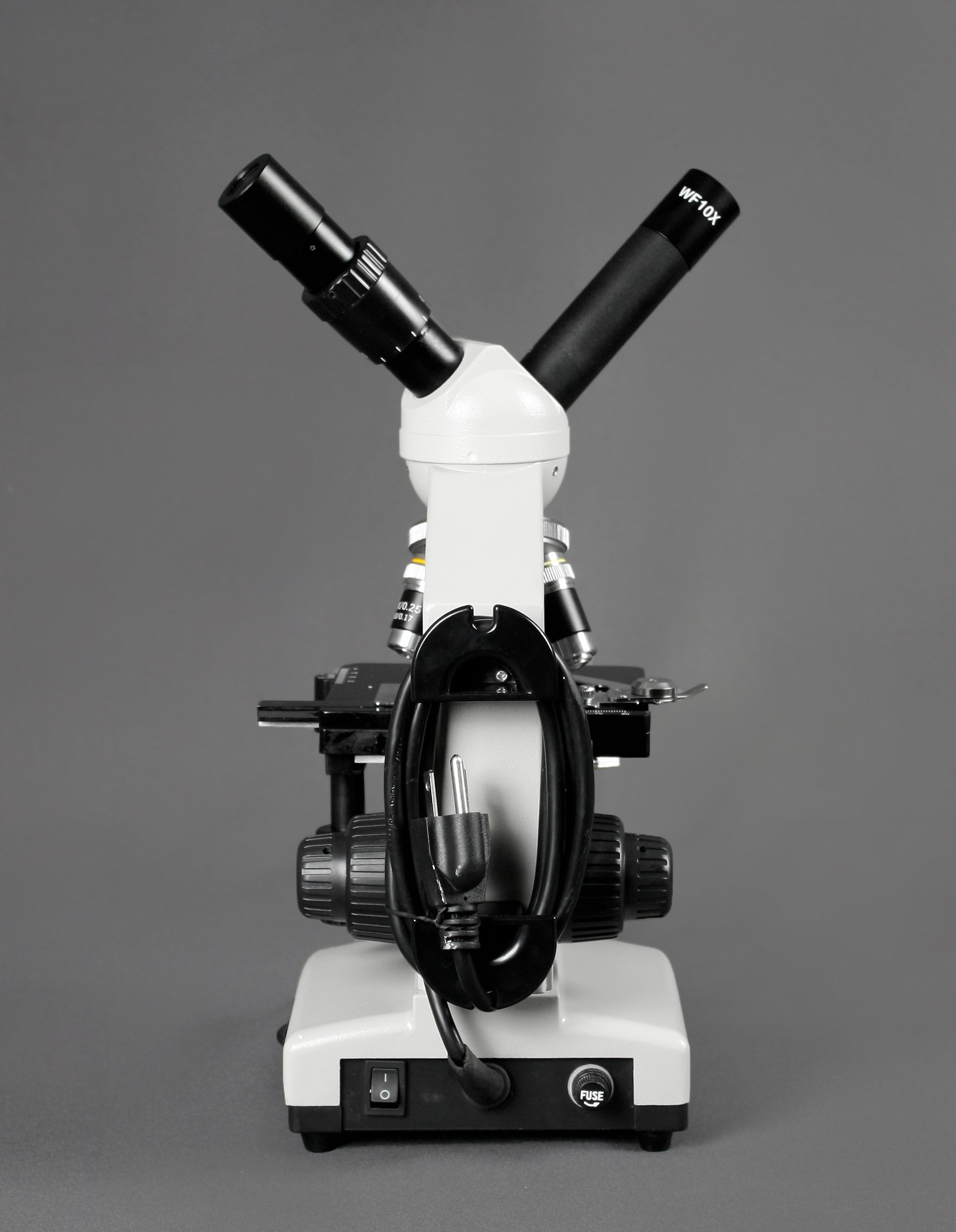 Parco Scientific PBS-500 Dual View Compound Microscope, 10x WF Eyepiece, 40x—1000x Magnification, LED Illumination, 1.25 NA Abbe Condenser, Coaxial Coarse & Fine Focus, Mechanical Stage by Parco Scientific (Image #3)
