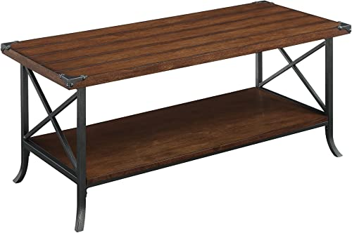 Convenience Concepts Brookline Coffee Table, Dark Walnut