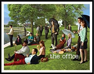 Culturenik The Office Georges Seurat Painting (Dunder Mifflin) Cast Group Workplace Comedy TV Television Show Poster Print, Framed 11x14