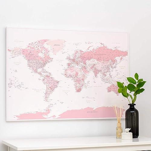 Cartina Del Mondo Da Parete.Trip Map Planisfero Da Parete Mappa Del Mondo Quadro Su