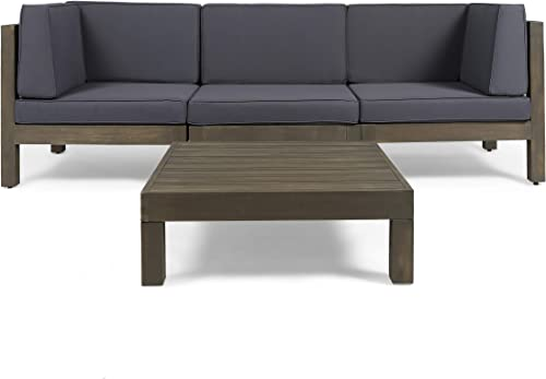 Great Deal Furniture Keith Outdoor Sectional Sofa Set
