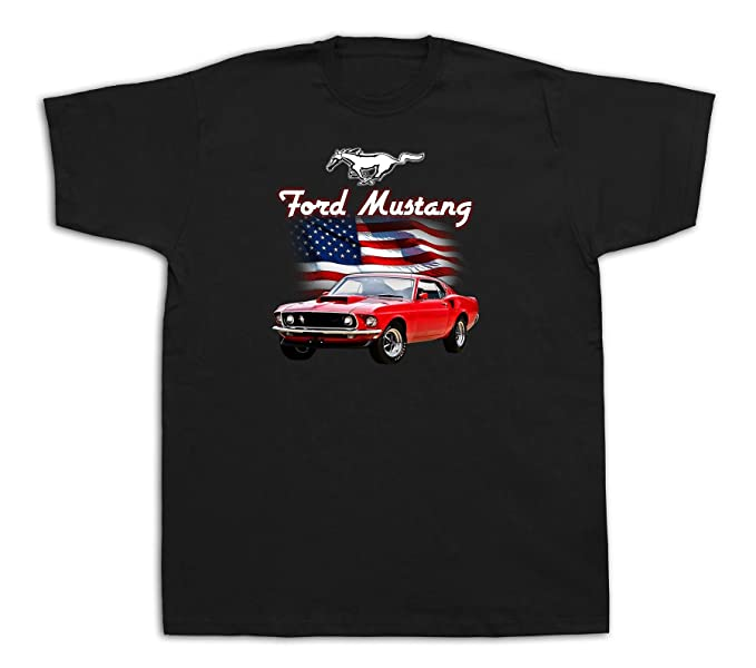 78e255e7 Muscle car boss Ford Mustang 1969 red 429 Tshirts Highway America Shelby  Cobra | Amazon.com