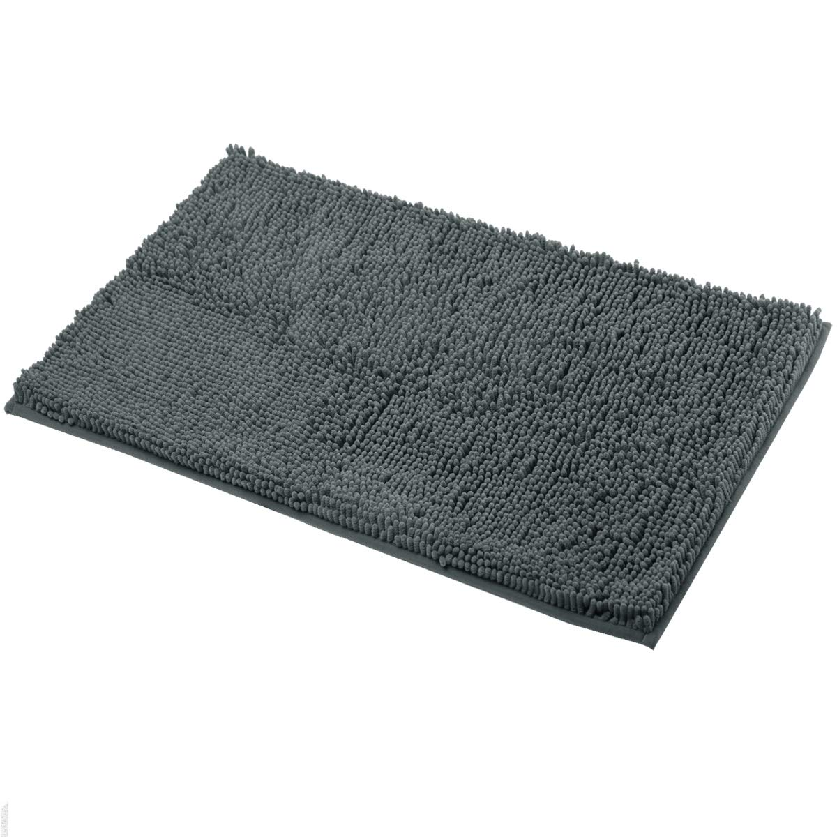 Mayshine Non-Slip Bathroom Rugs and Door Mat Mud Dirt Trapper Mats(39''x24'') Machine-Washable Absorbent Water Microfibers - Dark Gray by MAYSHINE