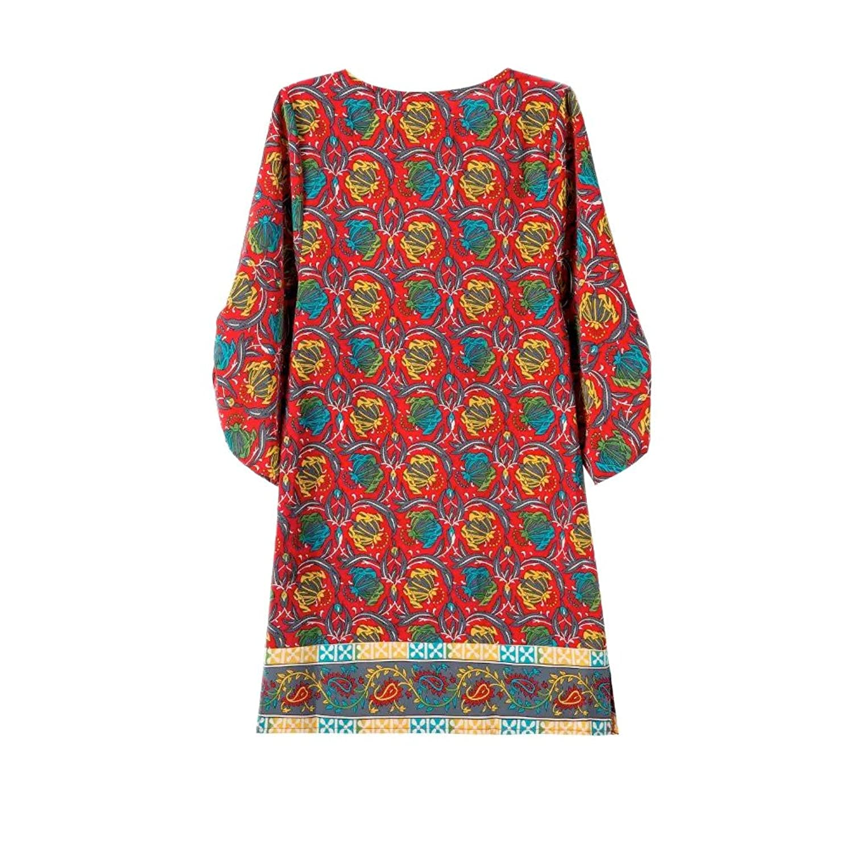 2016 Summer Chiffon Geometric Coachella Vintage Red Dress