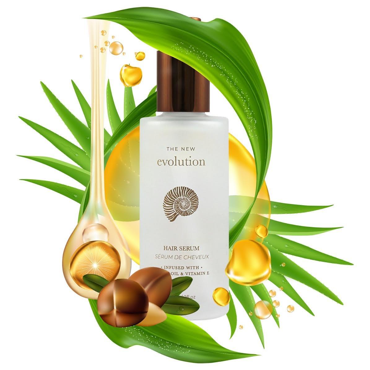 Evolution Argan Oil Hair Serum with Vitamin E and Aloe Vera, 2 Fl. Oz./60 Ml