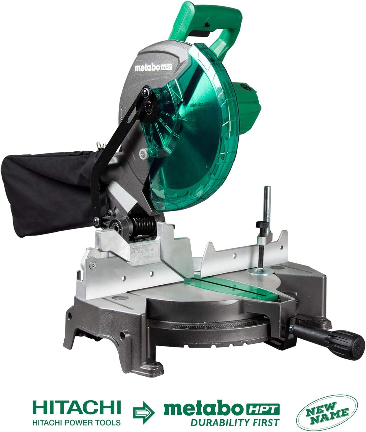 Metabo HPT C10FCGS 10 Compound Miter Saw, 15-Amp Motor, Single Bevel, 0-52 Miter Angle Range, 0-45 Bevel Range, Large Table, 10 24T TCT Saw Blade