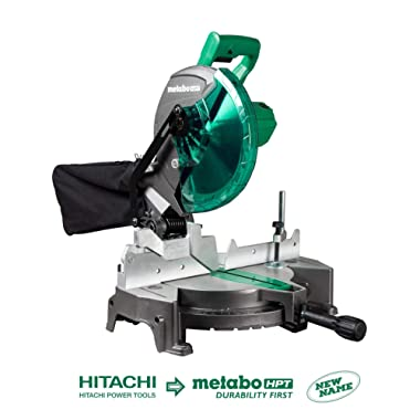 Metabo HPT C10FCGS 10  Compound Miter Saw, 15-Amp Motor, Single Bevel, 0-52° Miter Angle Range, 0-45° Bevel Range, Large Table, 10  24T TCT Saw Blade