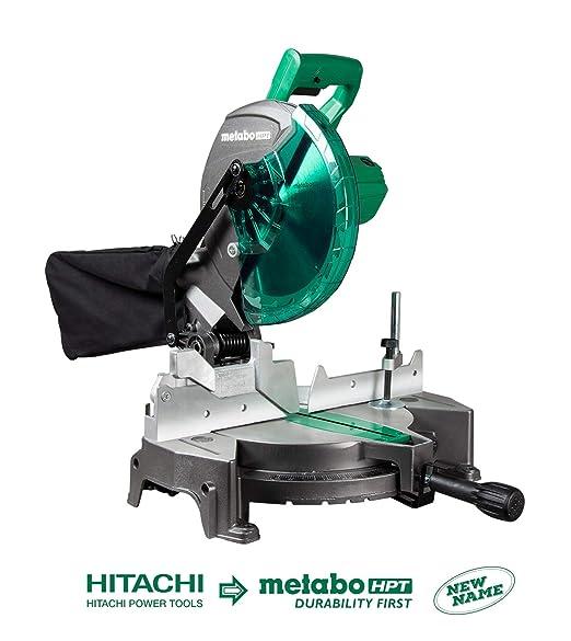 Metabo HPT C10FCGS sierra ingletadora compuesta de 10 pulgadas ...
