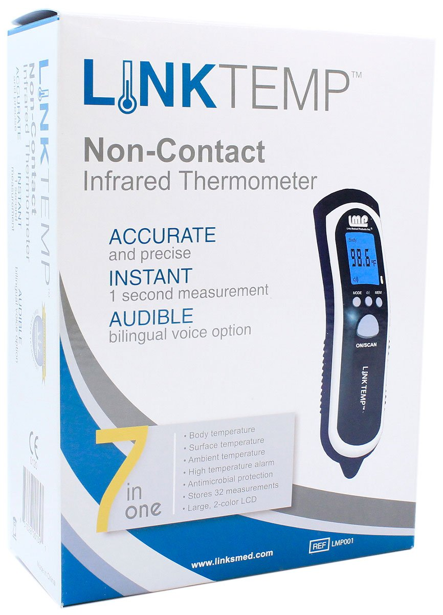LinkTemp Non-Contact Infrared Professional Thermometer by Links Medical