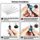 Hand Drill Bits Set 26pc GOCHANGE Hand Drill Set