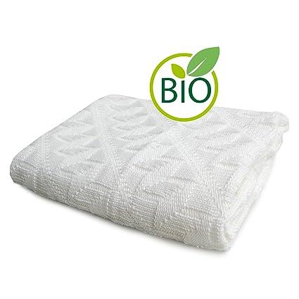 Relaxfair Manta de punto para bebé, algodón orgánico con certificado