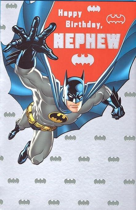 Batman - Tarjeta de cumpleaños para sobrino: Amazon.es ...