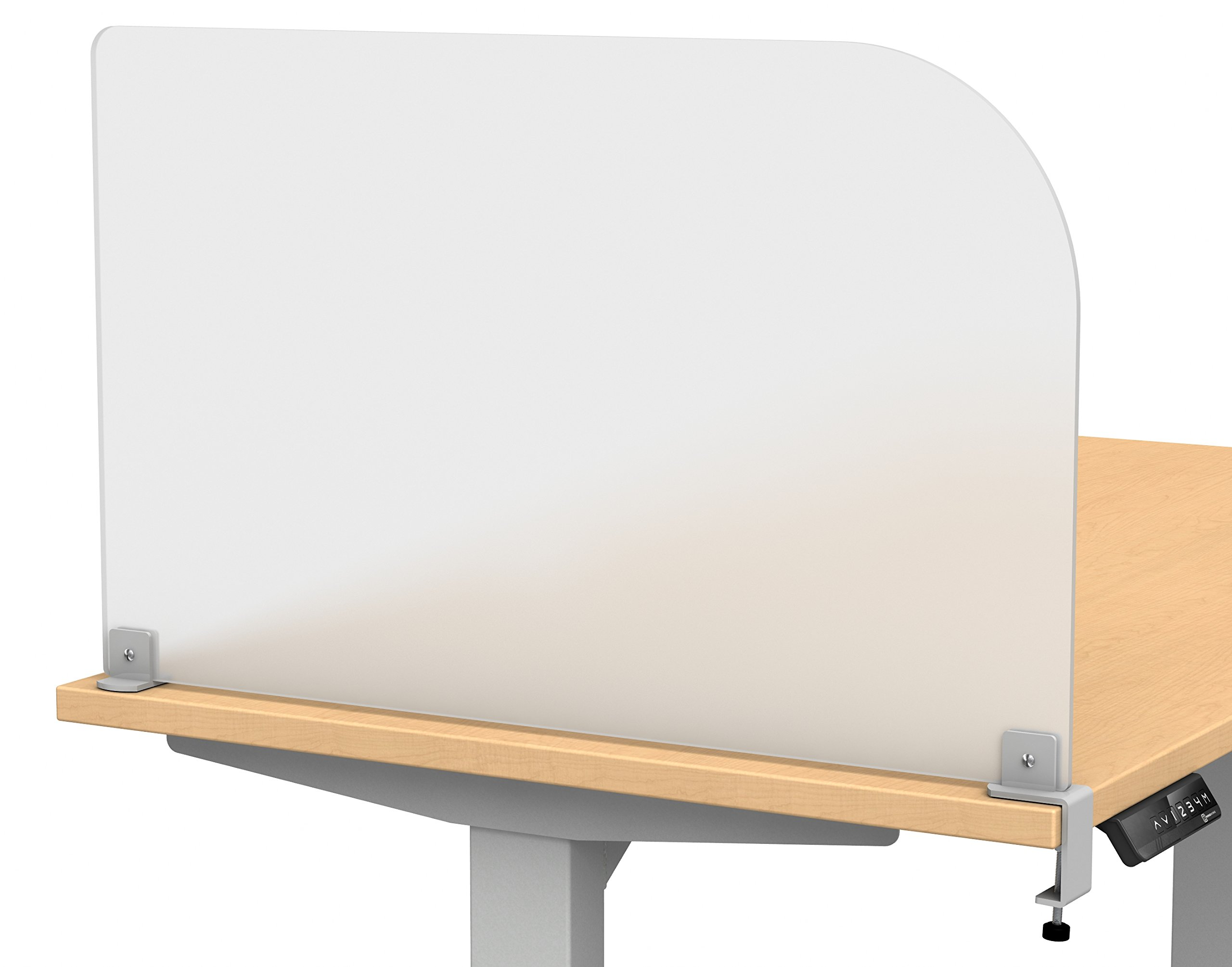 """Merge Works Studio Wing Desktop Privacy Panel – Frosted Acrylic Clamp-on Desk Divider –29"""" W x 18""""H Partition"""