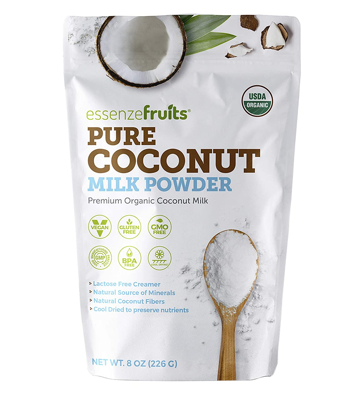 Essenzefruits Pure Organic Coconut Milk Powder - Premium Maltodextrin Free