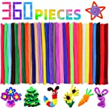 Pipe Cleaners Craft Chenille Stems, 360 Pieces 30 Assorted Colors for Crafting DIY Arts Projects Decorations, 6mm x…