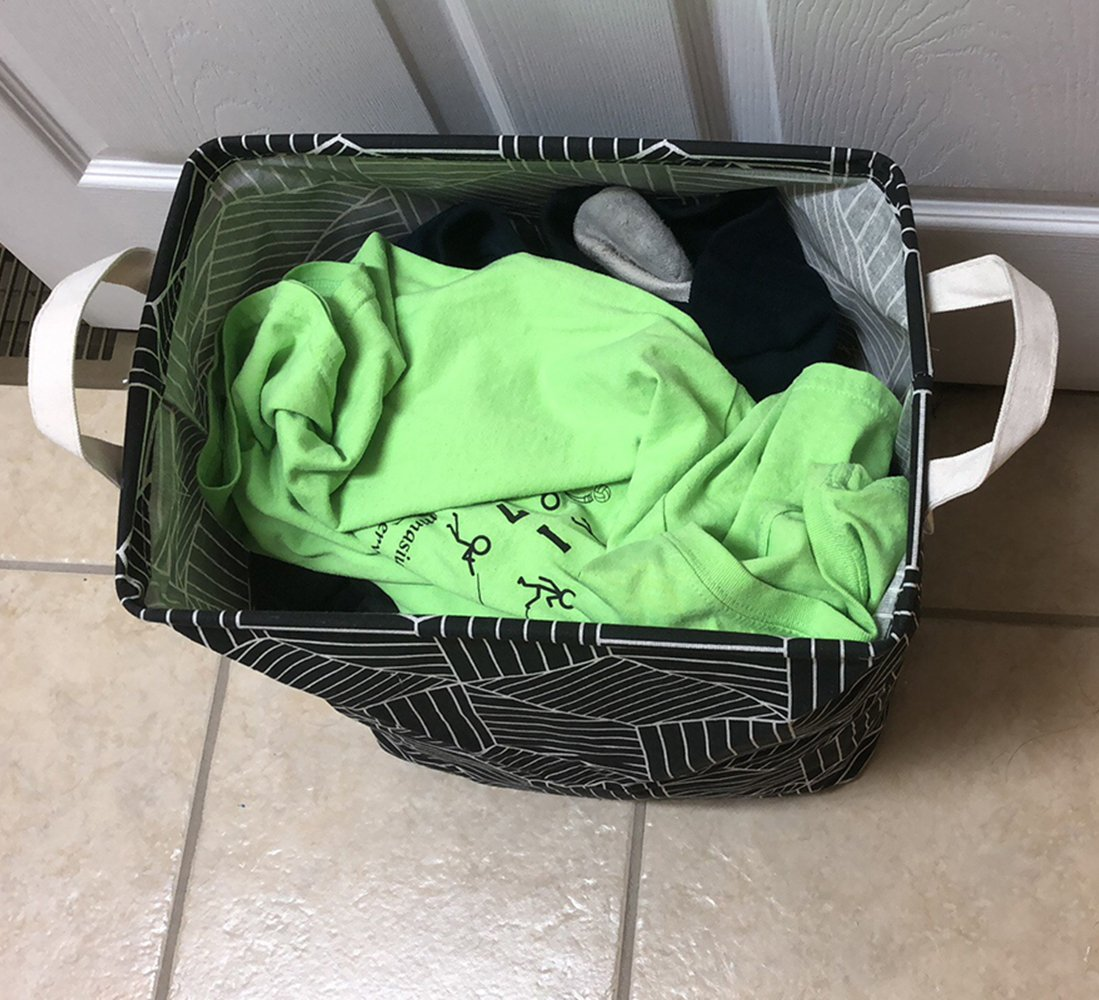 Clothes Collapsible Rectangular Laundry Hamper Storage with Carry Handles Bathroom Toys and More QFDSlive Laundry Basket
