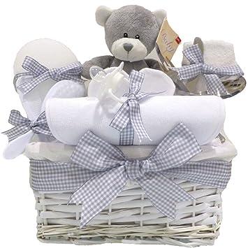 Shimmer Weidenkorb Unisex Baby Geschenk Baby Geschenkkorb Baby