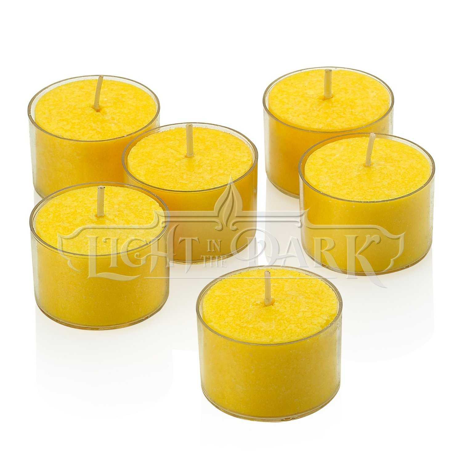 Light In The Dark Set of 36 Yellow Citronella Tealight Candles with Clear Cup Burn 8 Hour - Made from High Scented Citronella to Scare Away Mosquito, Bug and Flies - for Outdoor/Indoor Use by Light In The Dark (Image #2)